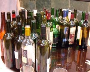 32 - wine bottles