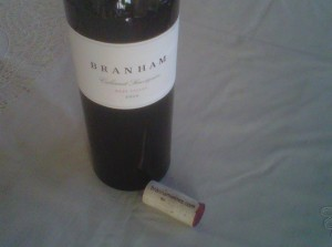 34 - Branham bottle w cork